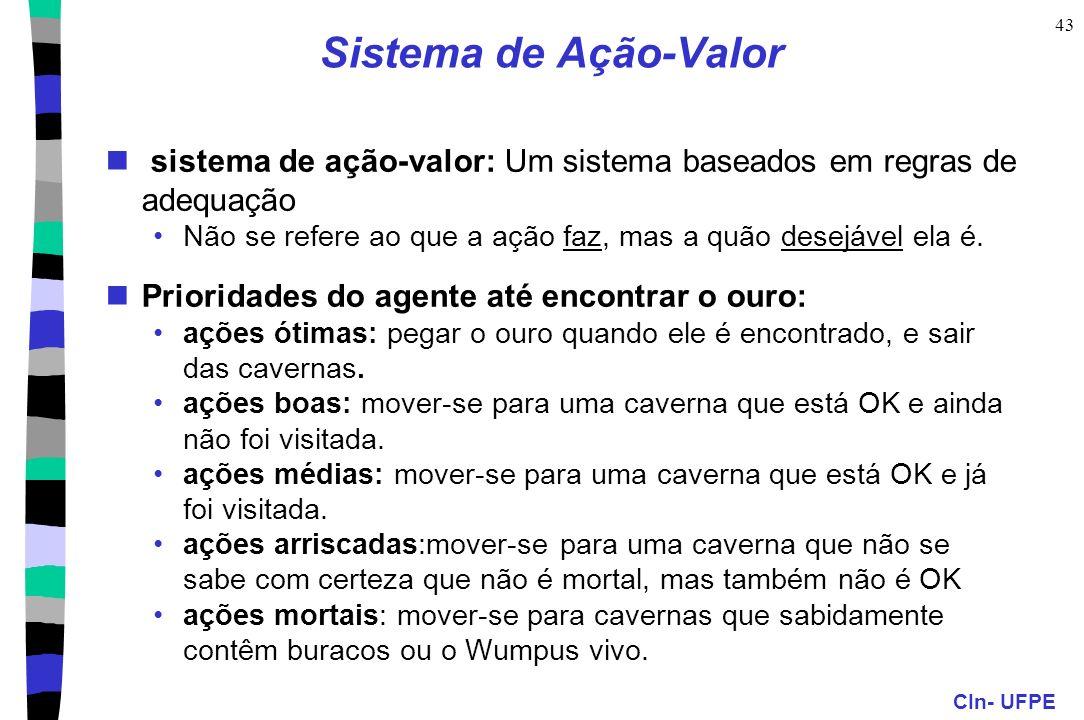 Sistema de Ação-Valor sistema de ação-valor: Um sistema baseados em regras de adequação.