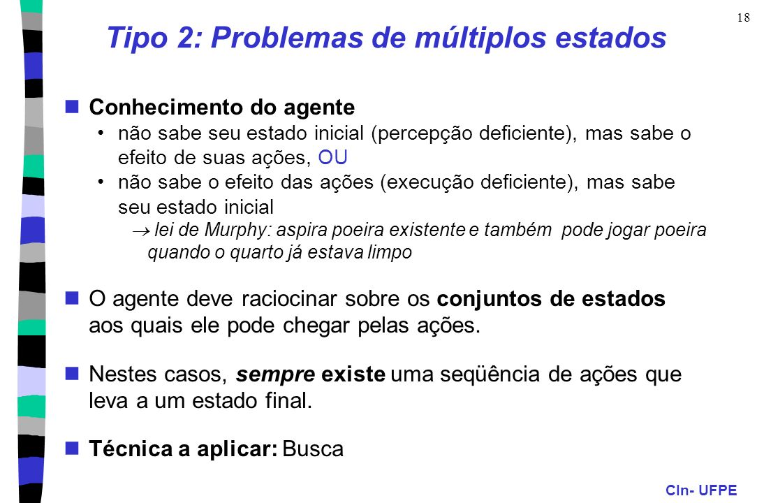 Tipo 2: Problemas de múltiplos estados