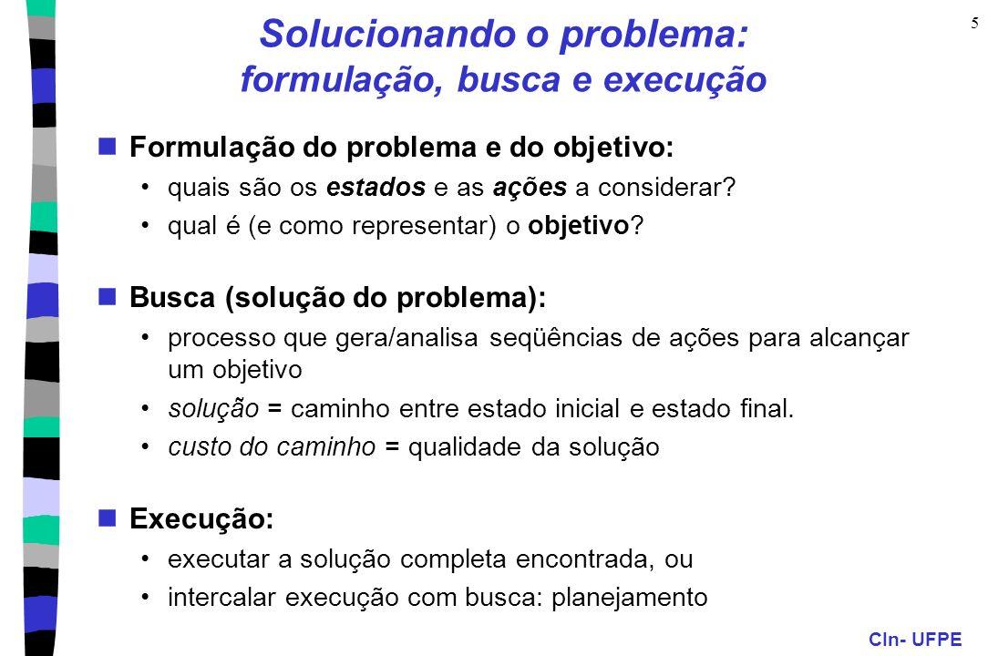 Solucionando o problema: formulação, busca e execução
