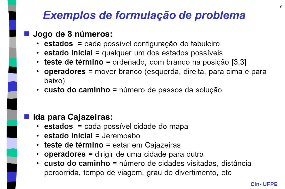 Exemplos de formulação de problema