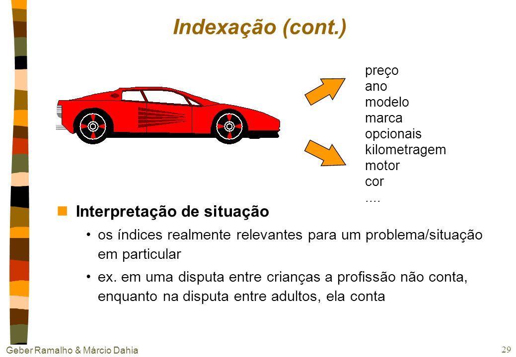 Indexação (cont.) Interpretação de situação
