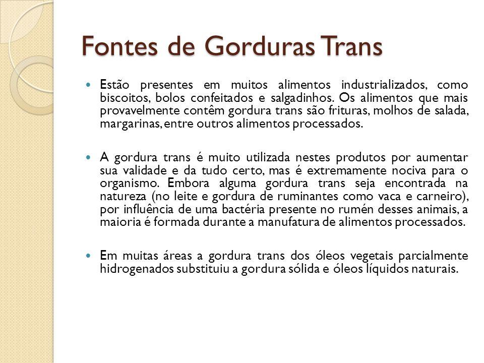 Fontes de Gorduras Trans