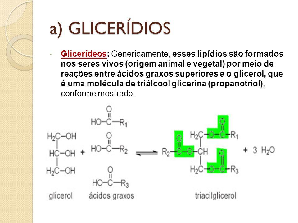 a) GLICERÍDIOS