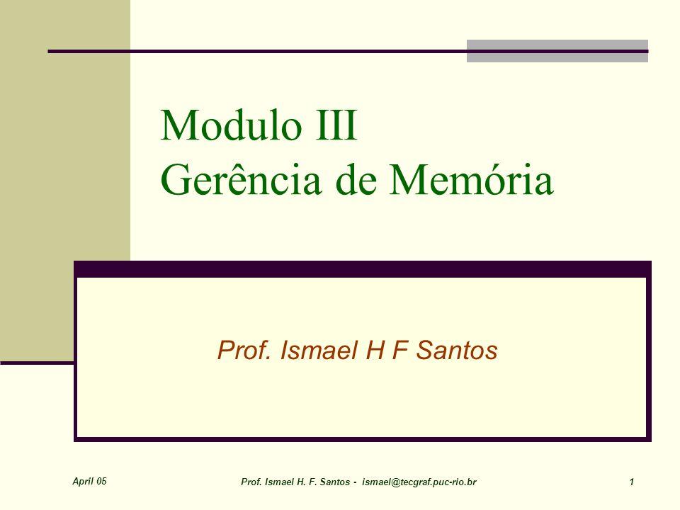 Modulo III Gerência de Memória