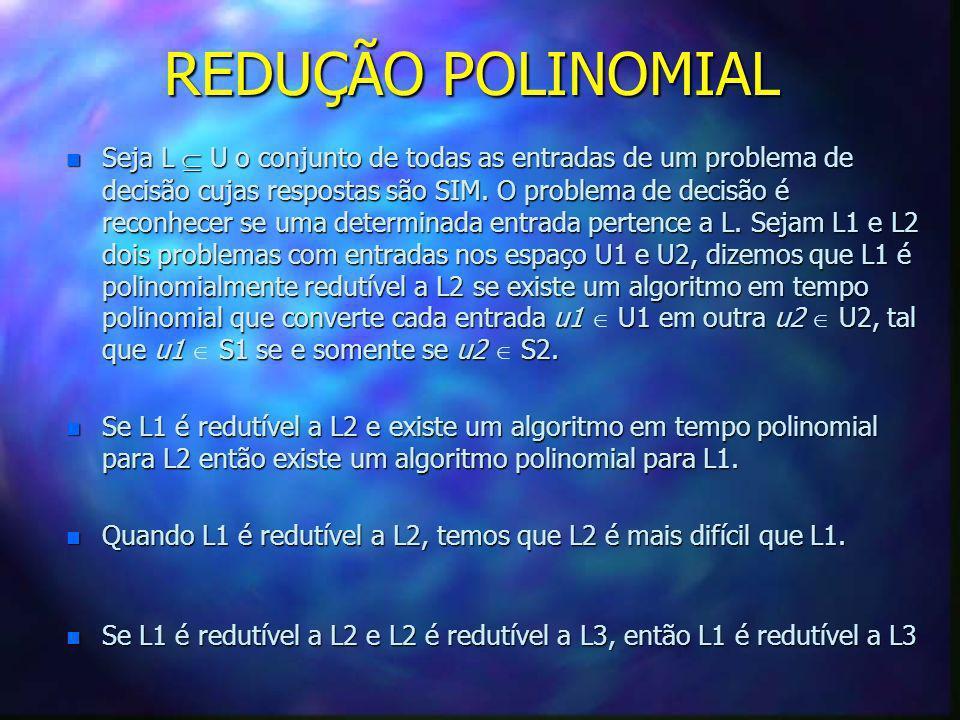 REDUÇÃO POLINOMIAL
