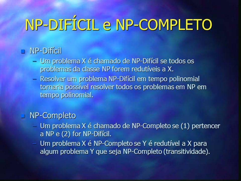 NP-DIFÍCIL e NP-COMPLETO