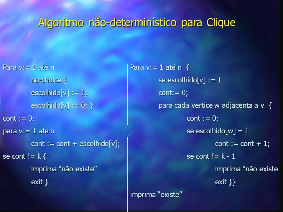 Algoritmo não-determinístico para Clique