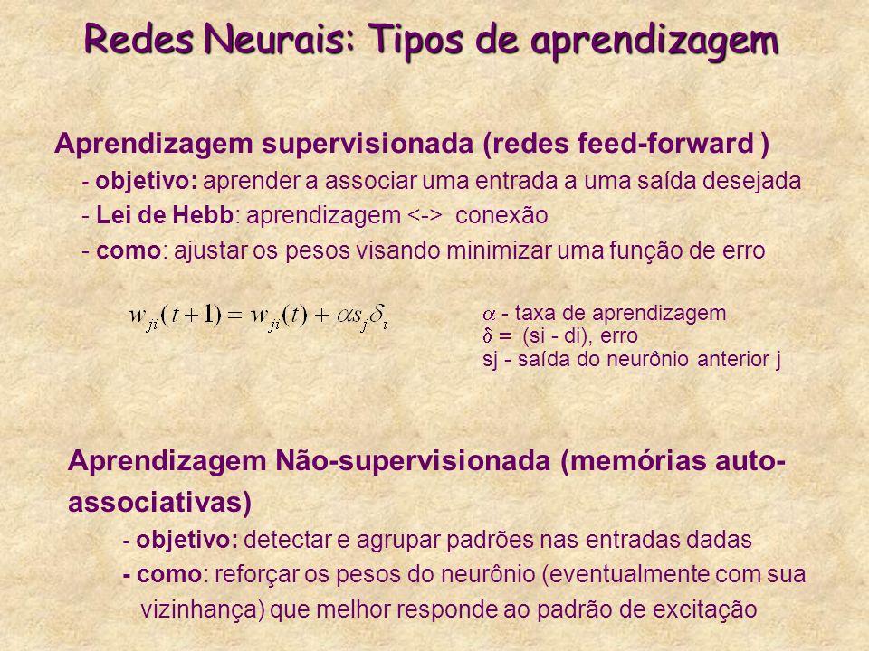 Redes Neurais: Tipos de aprendizagem