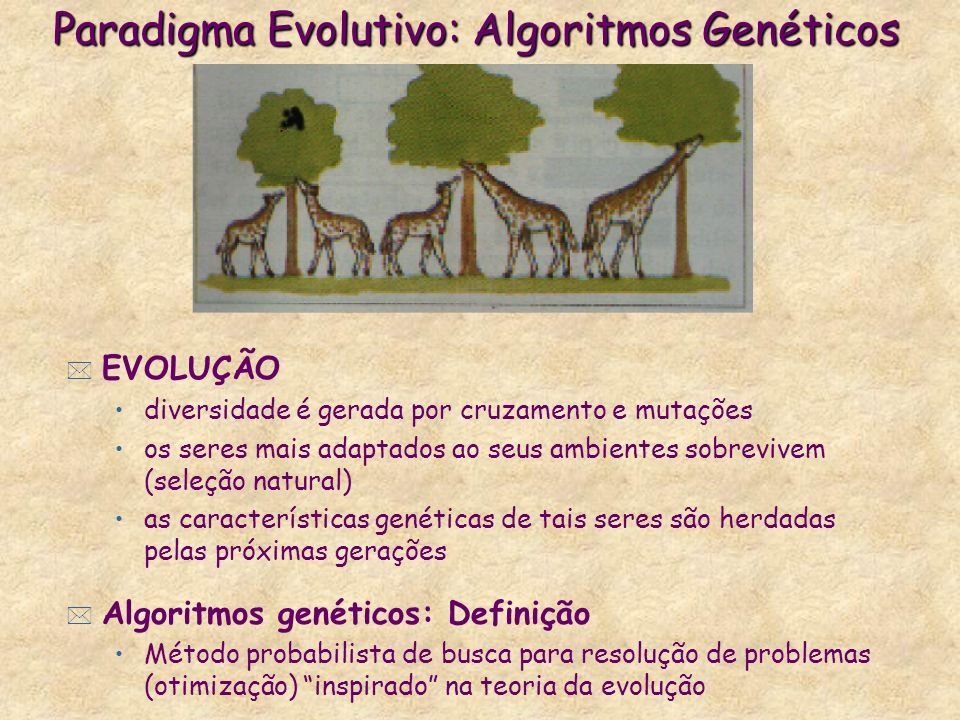 Paradigma Evolutivo: Algoritmos Genéticos