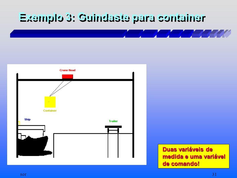 Exemplo 3: Guindaste para container