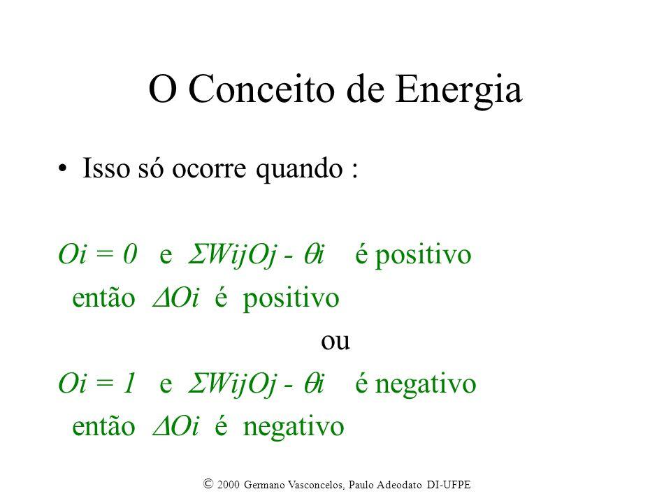 O Conceito de Energia Isso só ocorre quando :