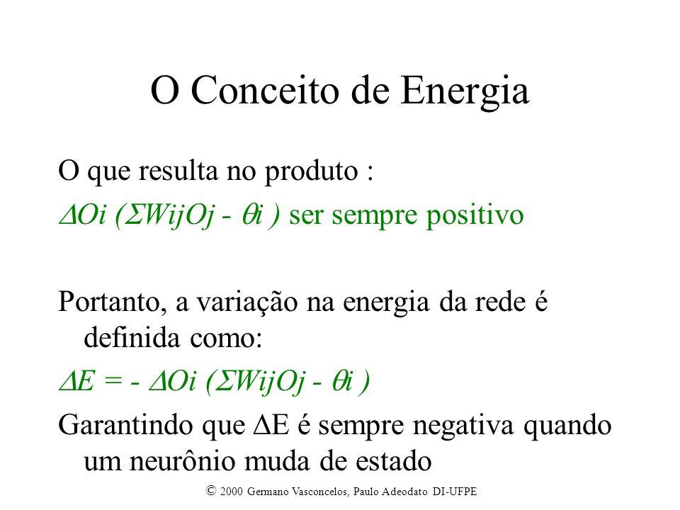 O Conceito de Energia O que resulta no produto :
