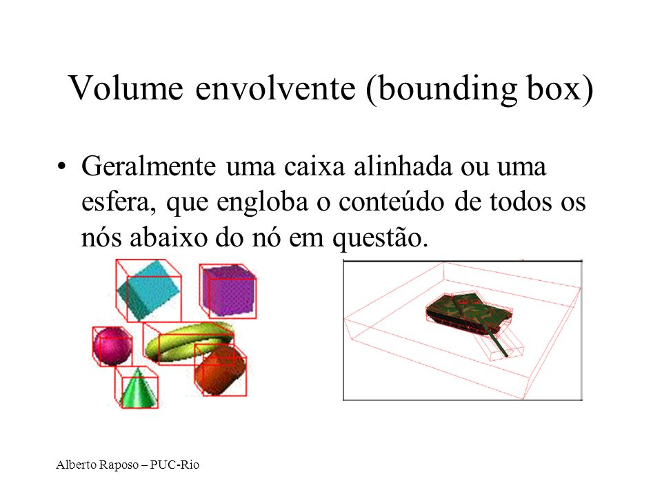 Volume envolvente (bounding box)