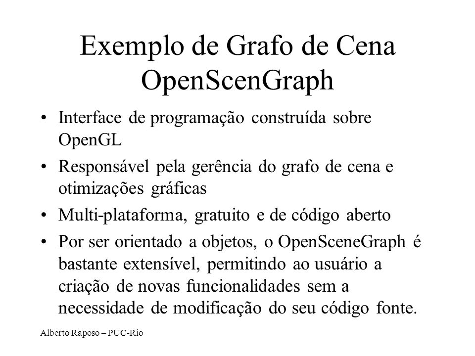 Exemplo de Grafo de Cena OpenScenGraph
