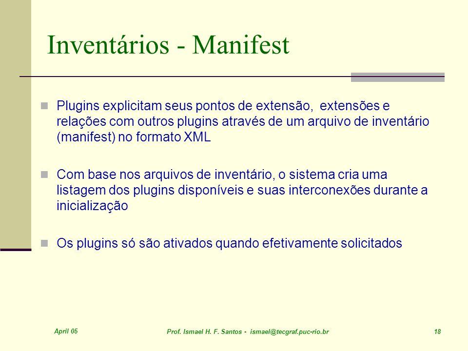 Inventários - Manifest