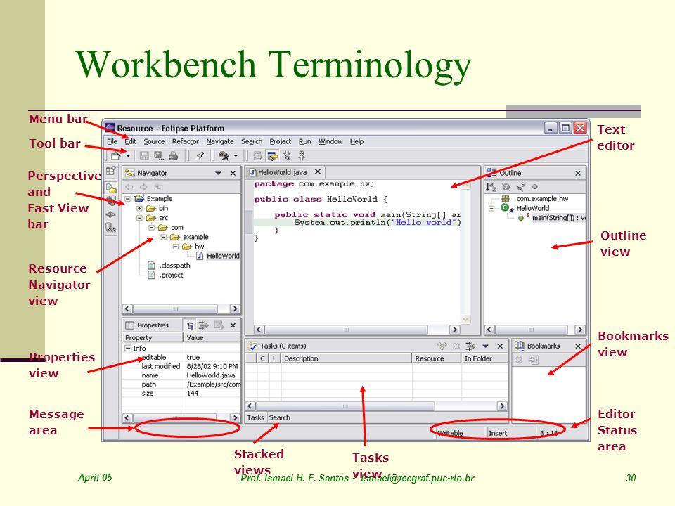 Workbench Terminology