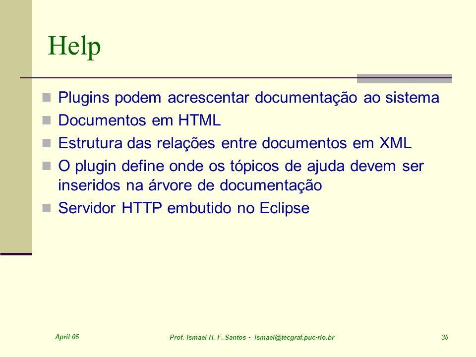 Help Plugins podem acrescentar documentação ao sistema