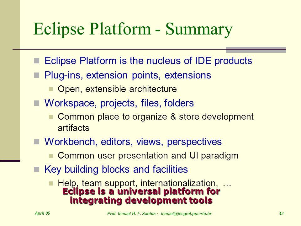 Eclipse Platform - Summary