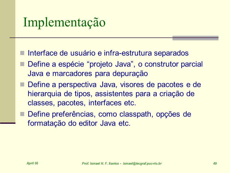 Implementação Interface de usuário e infra-estrutura separados