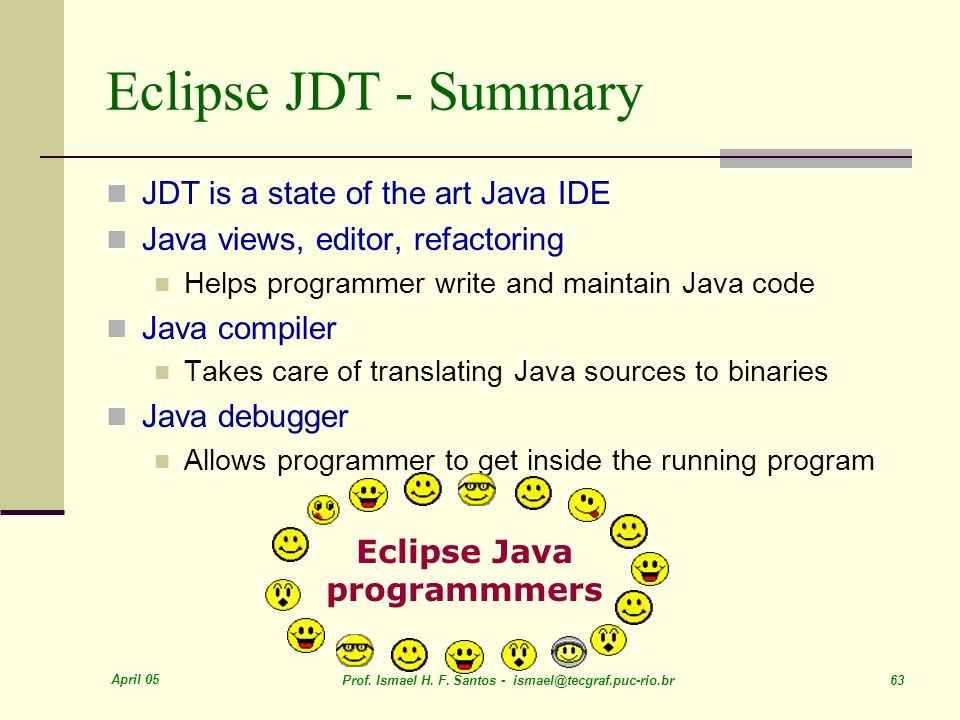 Eclipse Java programmmers