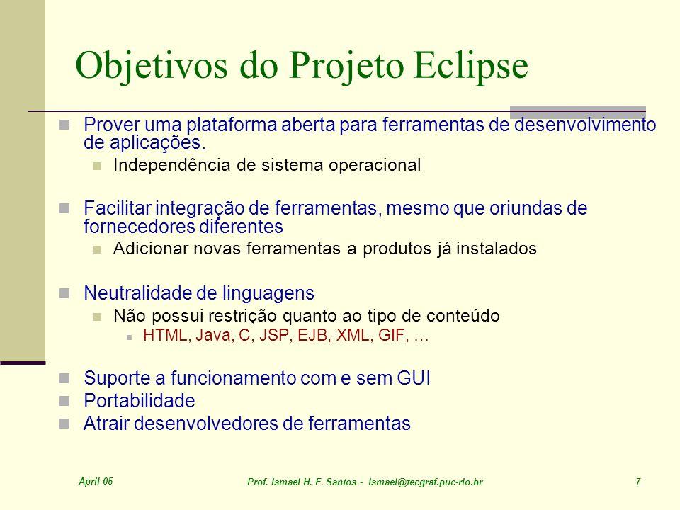Objetivos do Projeto Eclipse