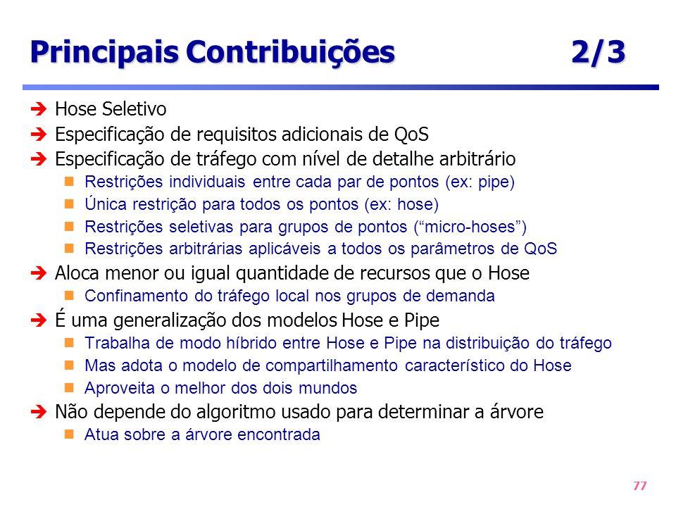 Principais Contribuições 2/3