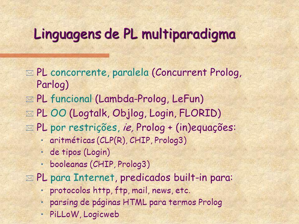 Linguagens de PL multiparadigma