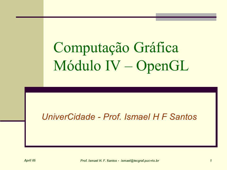 Computação Gráfica Módulo IV – OpenGL