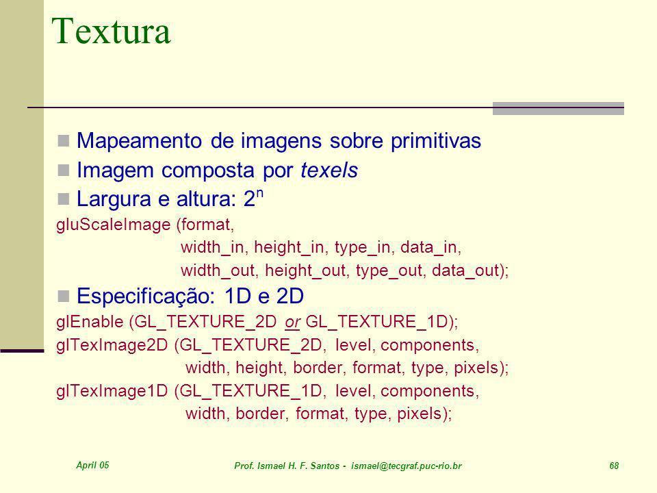 Textura Mapeamento de imagens sobre primitivas