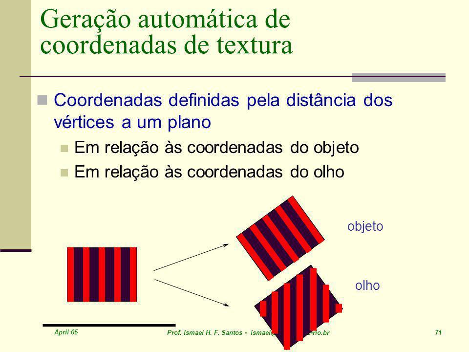 Geração automática de coordenadas de textura