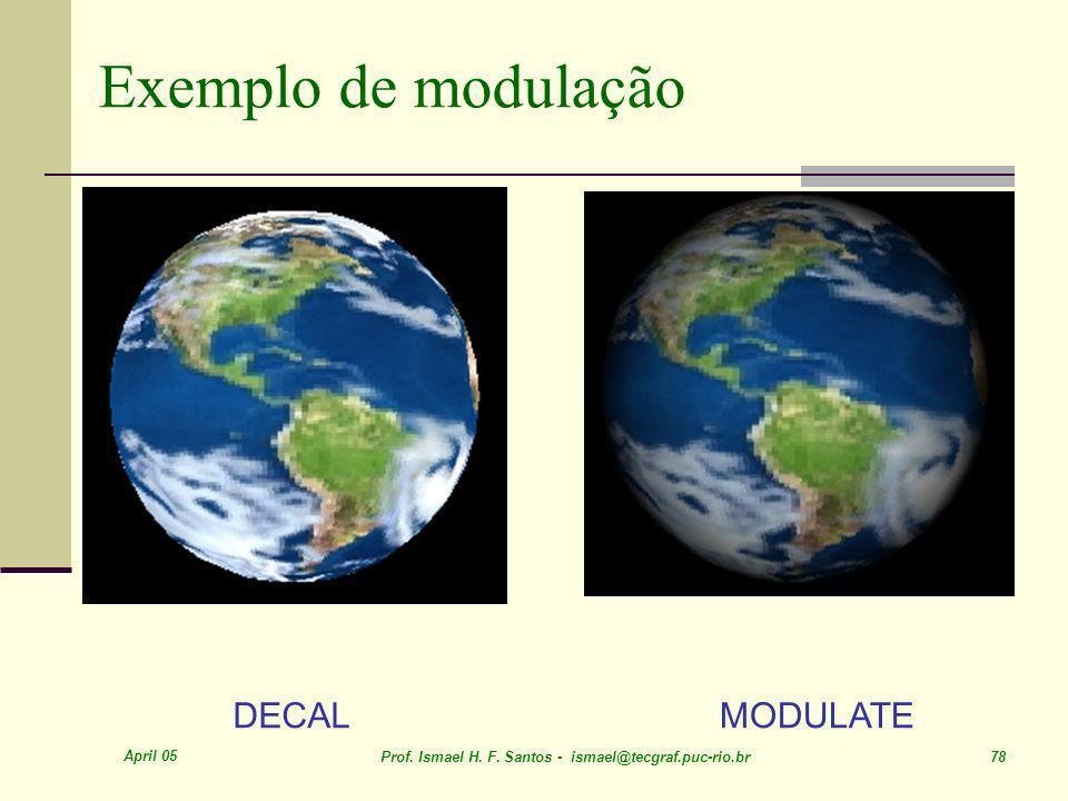 Exemplo de modulação DECAL MODULATE April 05