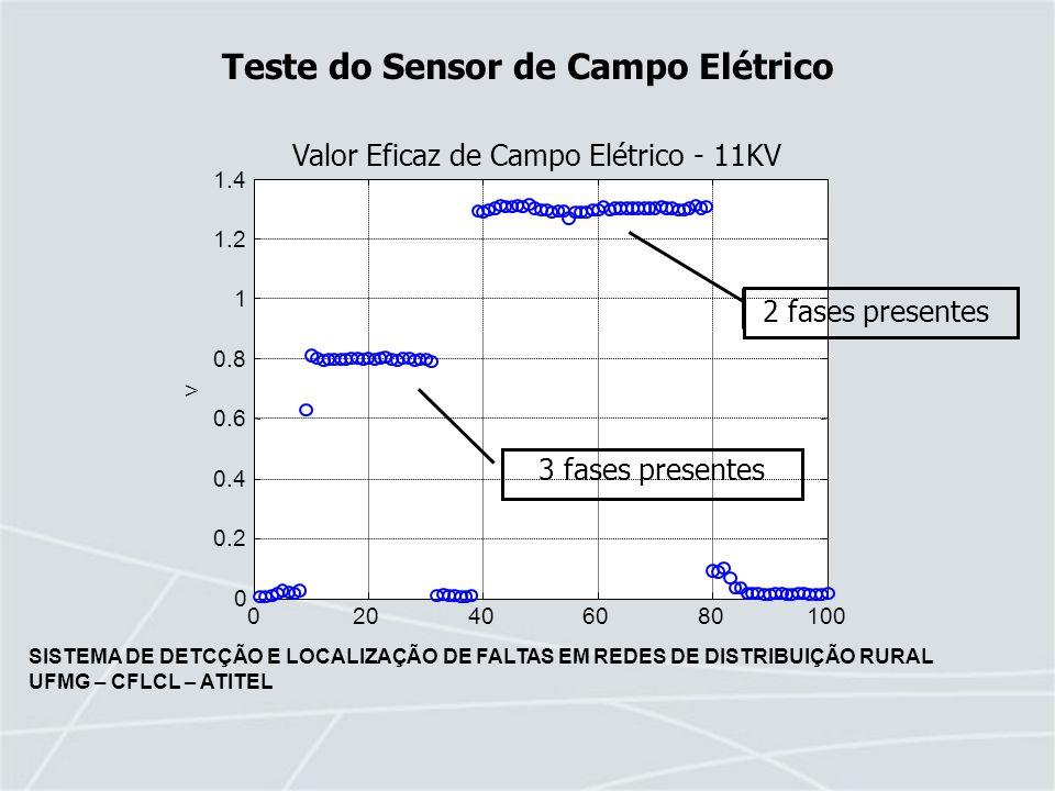Teste do Sensor de Campo Elétrico