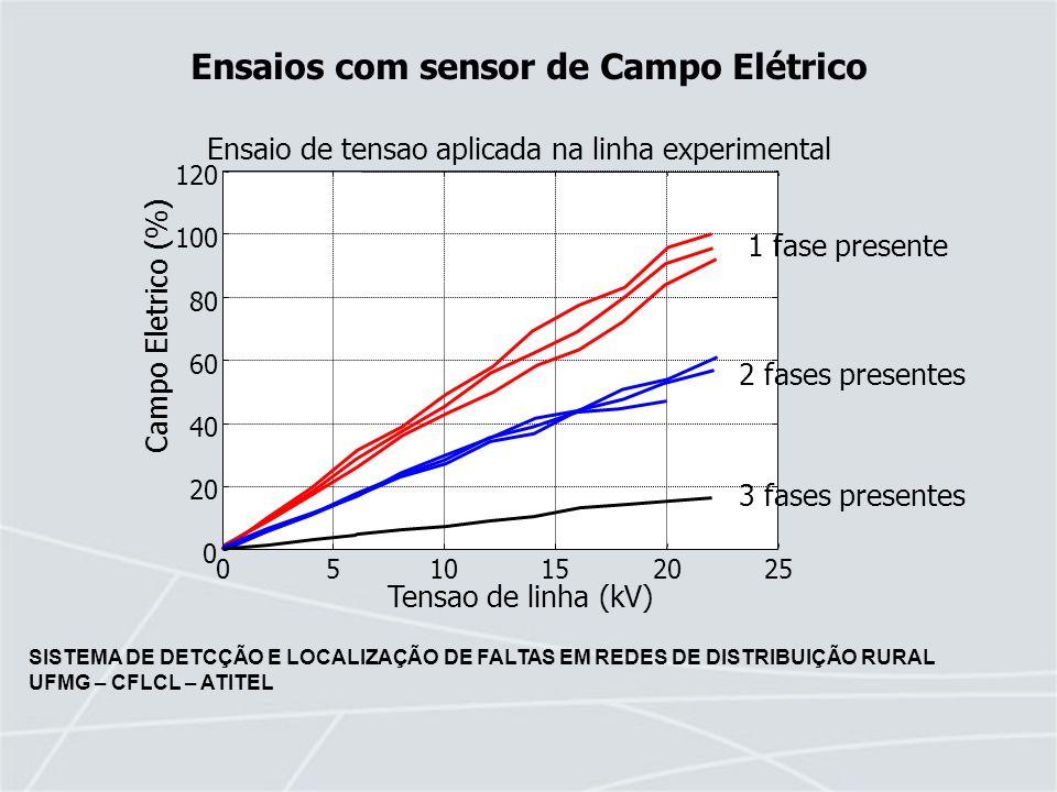 Ensaios com sensor de Campo Elétrico