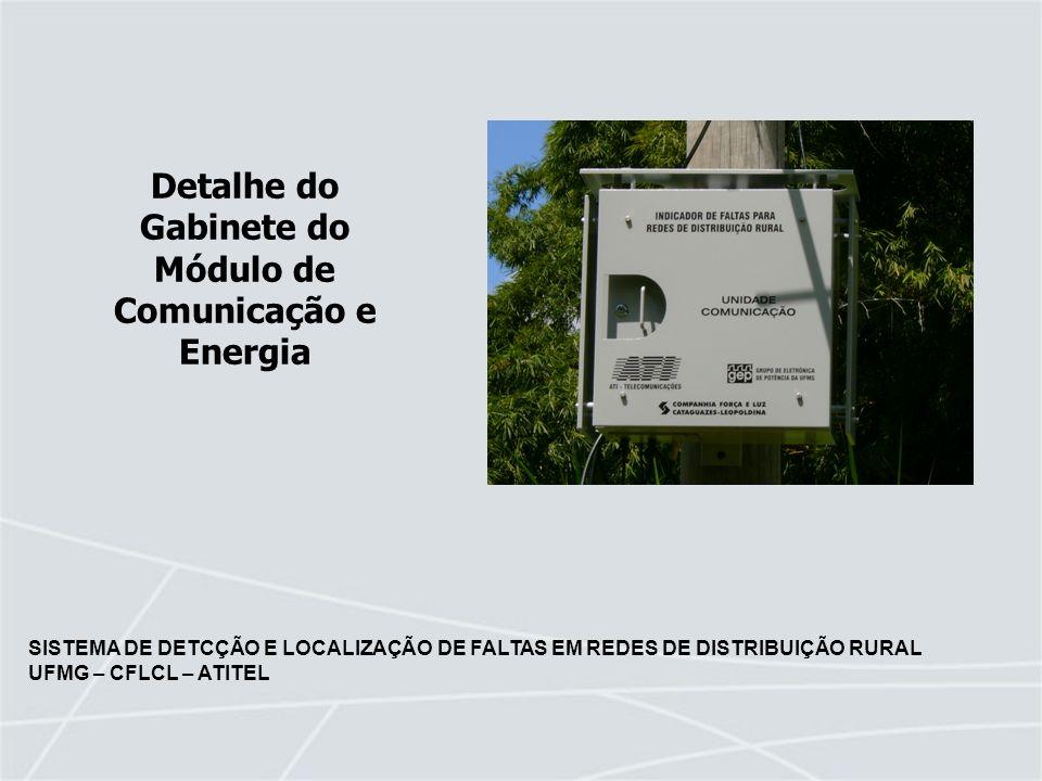Detalhe do Gabinete do Módulo de Comunicação e Energia