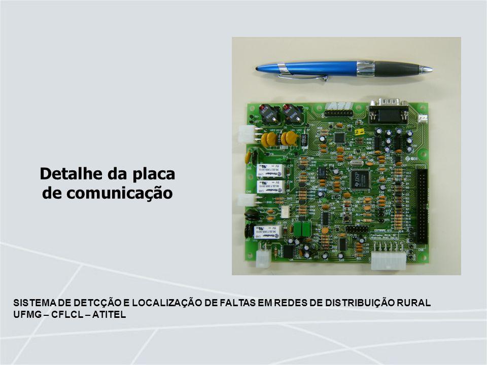 Detalhe da placa de comunicação