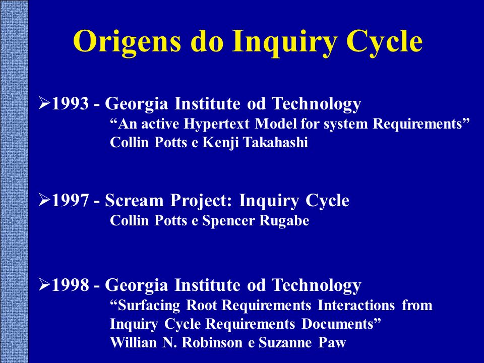 Origens do Inquiry Cycle