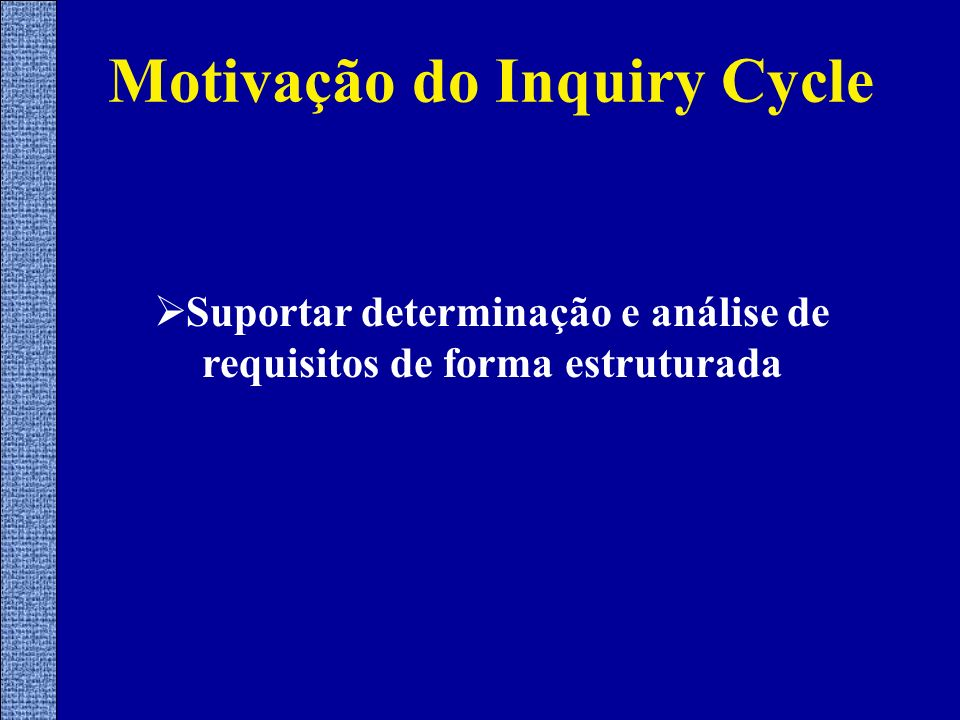 Motivação do Inquiry Cycle