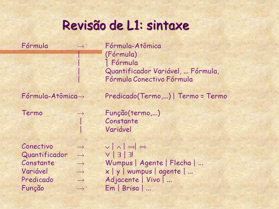 Revisão de L1: sintaxe Fórmula ® Fórmula-Atômica | (Fórmula)