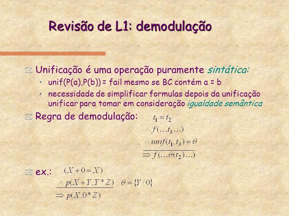 Revisão de L1: demodulação