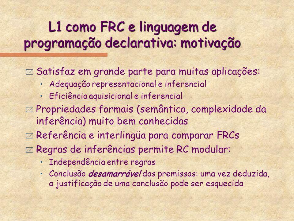 L1 como FRC e linguagem de programação declarativa: motivação