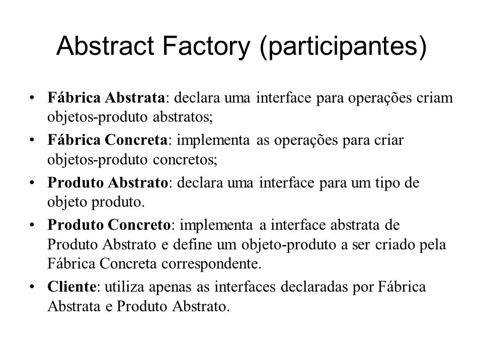 Abstract Factory (participantes)