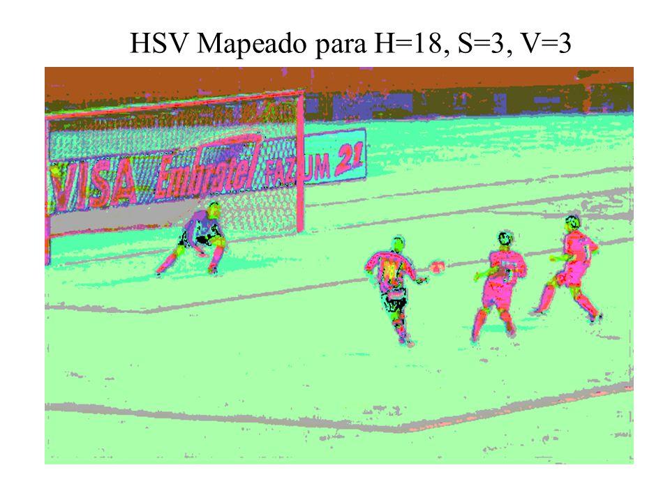 HSV Mapeado para H=18, S=3, V=3