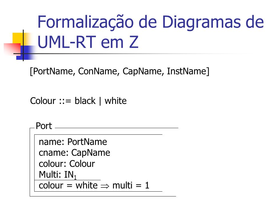Formalização de Diagramas de UML-RT em Z