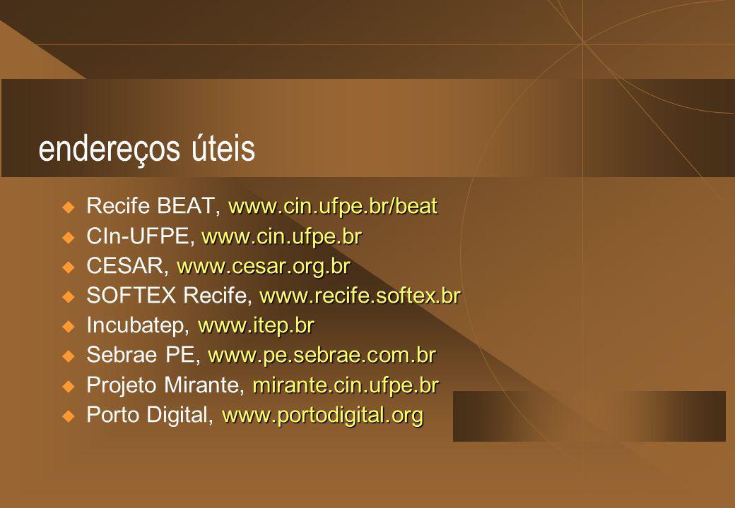 endereços úteis Recife BEAT, www.cin.ufpe.br/beat
