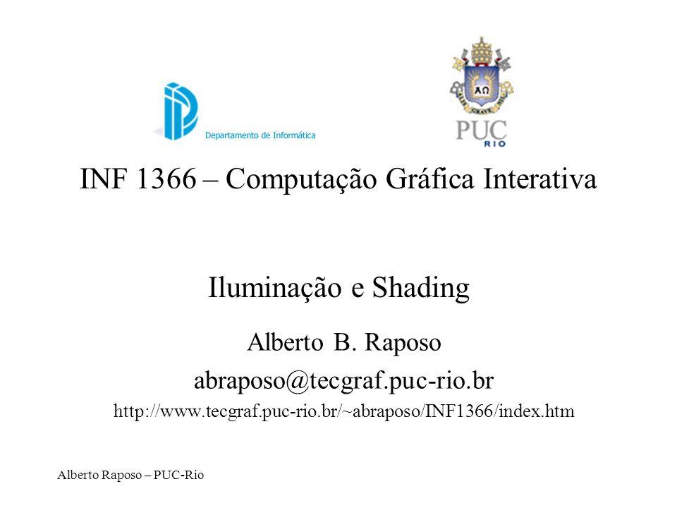 INF 1366 – Computação Gráfica Interativa Iluminação e Shading