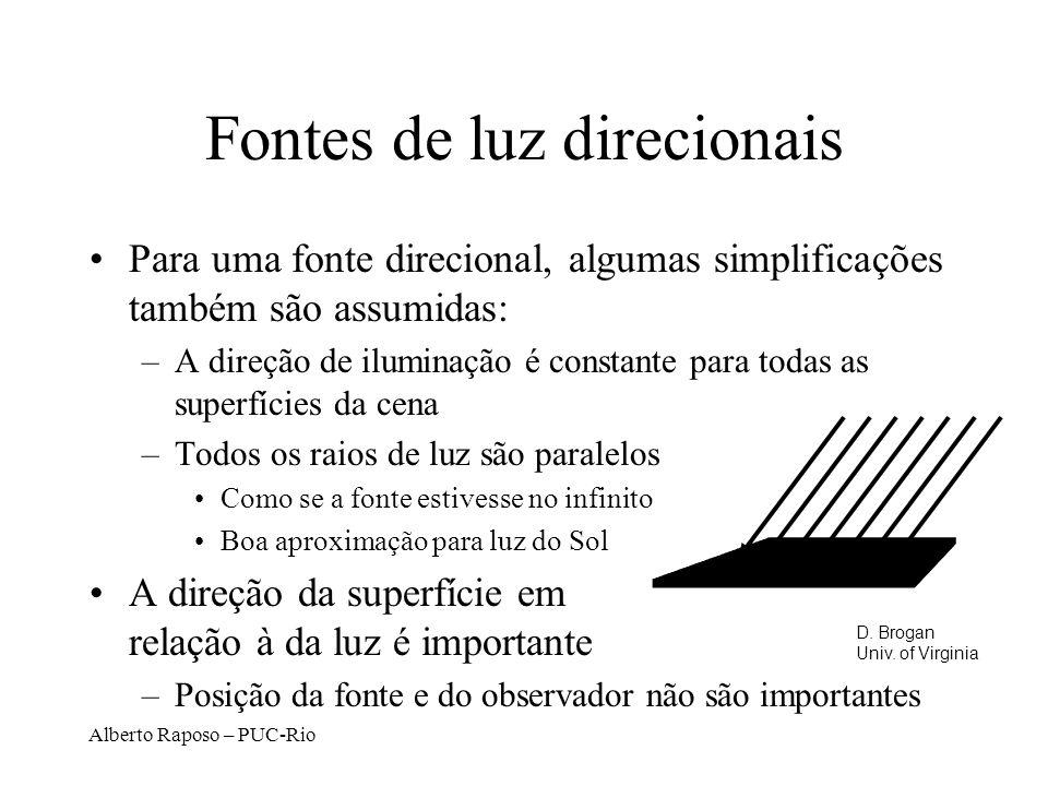 Fontes de luz direcionais