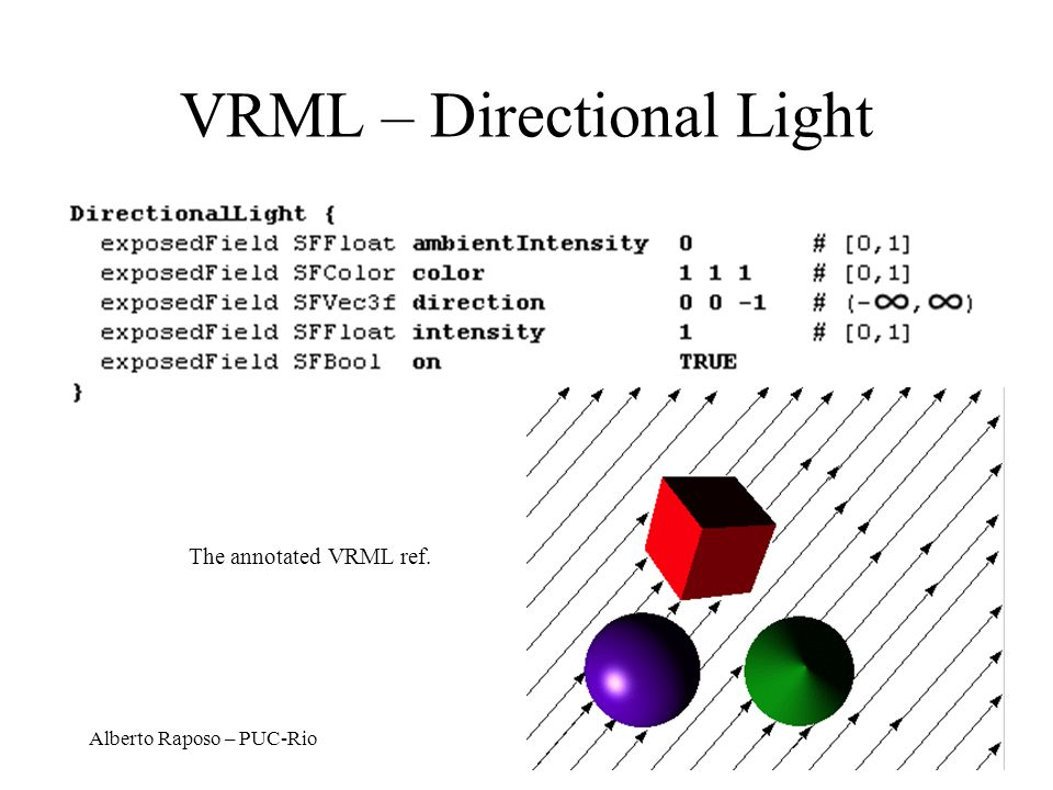 VRML – Directional Light