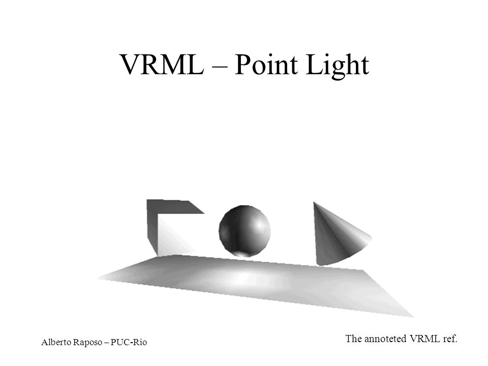 VRML – Point Light The annoteted VRML ref. Alberto Raposo – PUC-Rio
