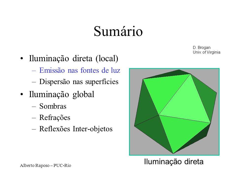 Sumário Iluminação direta (local) Iluminação global