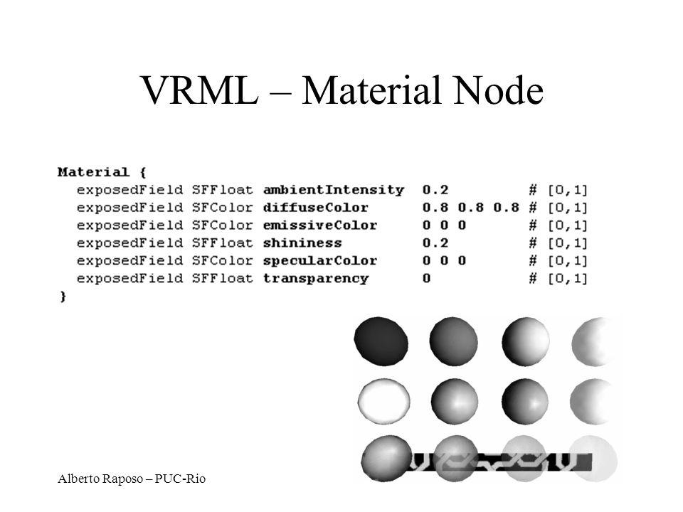VRML – Material Node Alberto Raposo – PUC-Rio